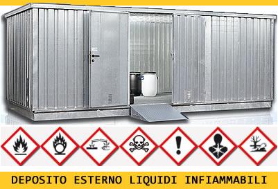 container-immagazzinaggio-sostanza -infiammabili